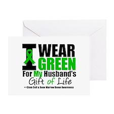 I Wear Green For My Husband Greeting Card