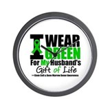 I Wear Green For My Husband Wall Clock