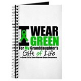 I Wear Green Granddaughter Journal