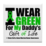 I Wear Green For My Daddy Tile Coaster