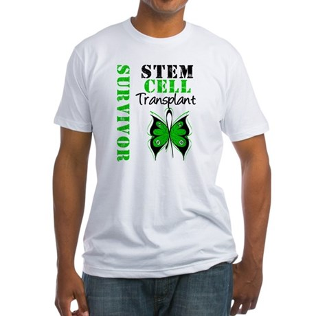 StemCellSurvivorButterfly Fitted T-Shirt