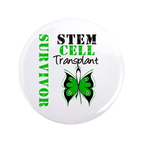 "StemCellSurvivorButterfly 3.5"" Button (100 pack)"