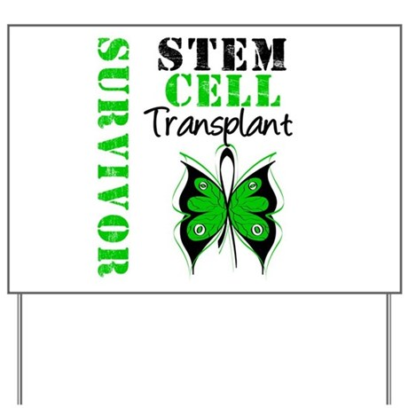 StemCellSurvivorButterfly Yard Sign
