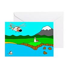 USCG Helo Greeting Card