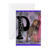 PUGGLES BLUE Greeting Cards (Pk of 10)