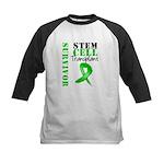 StemCellSurvivorButterfly Kids Baseball Jersey