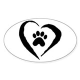 Heart Oval Decal