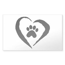 Heart Rectangle Decal