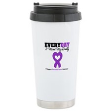 PancreaticCancer Daddy Ceramic Travel Mug