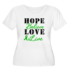 SCT BMT Hope Motto Women's Plus Size Scoop Neck T-