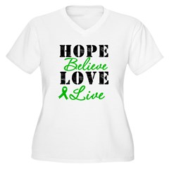 SCT BMT Hope Motto Women's Plus Size V-Neck T-Shir