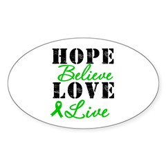 SCT BMT Hope Motto Oval Sticker (10 pk)