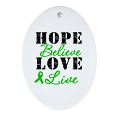 SCT BMT Hope Motto Oval Ornament