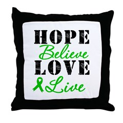 SCT BMT Hope Motto Throw Pillow