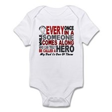 HERO Comes Along 1 Dad LUNG CANCER Infant Bodysuit
