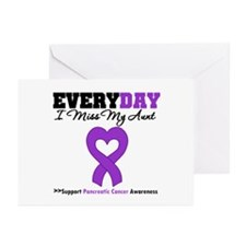 PancreaticCancer Aunt Greeting Cards (Pk of 20)