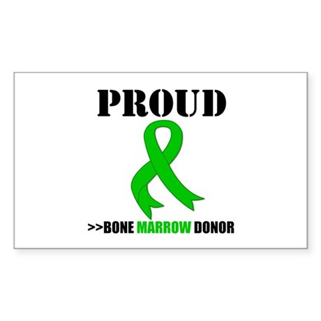 ProudBoneMarrowDonor Rectangle Sticker