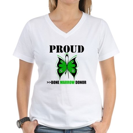 ProudBoneMarrowDonor Women's V-Neck T-Shirt