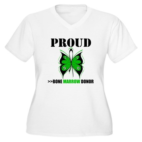 ProudBoneMarrowDonor Women's Plus Size V-Neck T-Sh