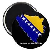 Flag Map of Bosnia and Her Magnet