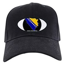 Flag Map of Bosnia and Her Baseball Hat