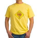 Cautions Peanuts On Floor Yellow T-Shirt