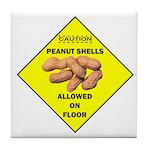 Cautions Peanuts On Floor Tile Coaster