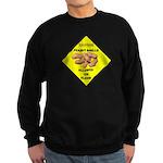 Cautions Peanuts On Floor Sweatshirt (dark)