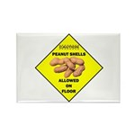 Cautions Peanuts On Floor Rectangle Magnet (10 pac