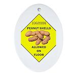 Cautions Peanuts On Floor Oval Ornament
