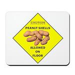 Cautions Peanuts On Floor Mousepad