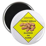 Cautions Peanuts On Floor Magnet
