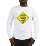 Cautions Peanuts On Floor Long Sleeve T-Shirt