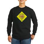 Cautions Peanuts On Floor Long Sleeve Dark T-Shirt