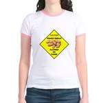Cautions Peanuts On Floor Jr. Ringer T-Shirt