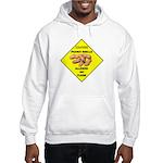 Cautions Peanuts On Floor Hooded Sweatshirt