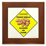 Cautions Peanuts On Floor Framed Tile