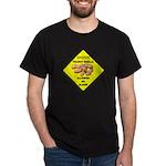 Cautions Peanuts On Floor Dark T-Shirt