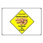 Cautions Peanuts On Floor Banner
