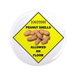 """Cautions Peanuts On Floor 3.5"""" Button (100 pa"""