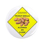 "Cautions Peanuts On Floor 2.25"" Magnet (100 p"