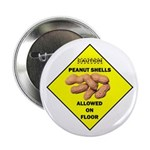 """Cautions Peanuts On Floor 2.25"""" Button"""