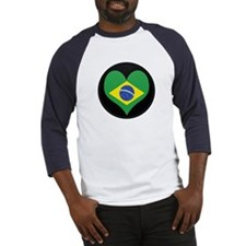 I love Brazil Flag Baseball Jersey