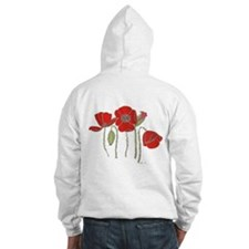 Red Poppies Art Jumper Hoody