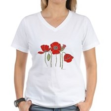 Red Poppies Art Shirt