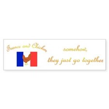 France and Chicken Bumper Bumper Sticker