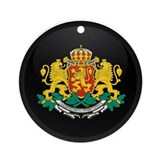 Coat of Arms of Bulgaria Ornament (Round)
