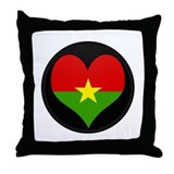 I love Burkina faso Flag Throw Pillow