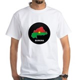 Flag Map of Burkina faso Shirt