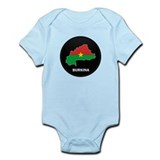 Flag Map of Burkina faso Infant Bodysuit